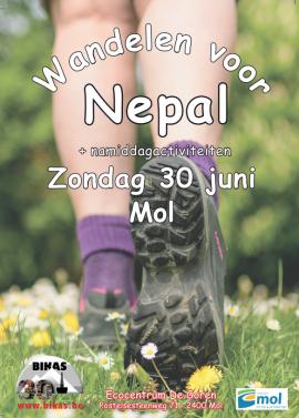 flyer Wandelen voor Nepal