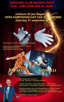 flyer Open kampioenschap van Vlaanderen goochelen