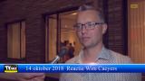 Gemeenteraadsverkiezingen 2018 reactie van nieuwe burgemeester Wim Caeyers